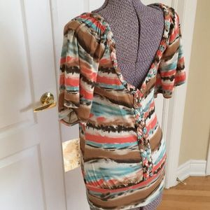 Eyeshadow - T-Shirt with Deep V Open Back NWT